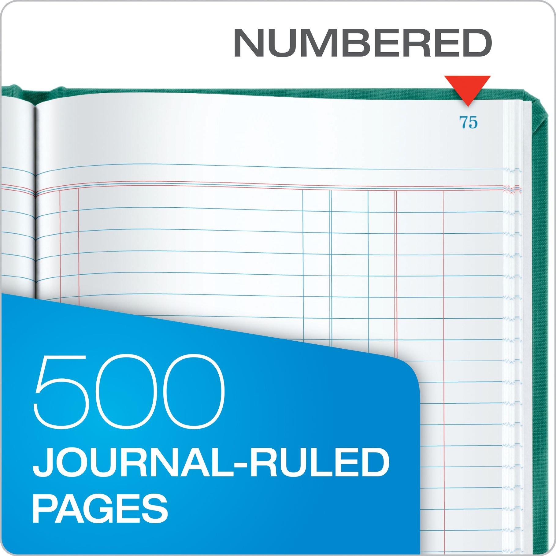 Boorum & Pease 66 Series Account Book, Journal Ruled, Green, 500 Pages, 12-1/8'' x 7-5/8'' (66-500-J) by Boorum & Pease (Image #3)