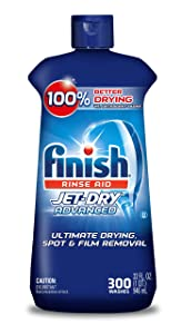 Finish Jet-Dry Rinse Aid, 32oz, Dishwasher Rinse Agent & Drying Agent 300 Washes