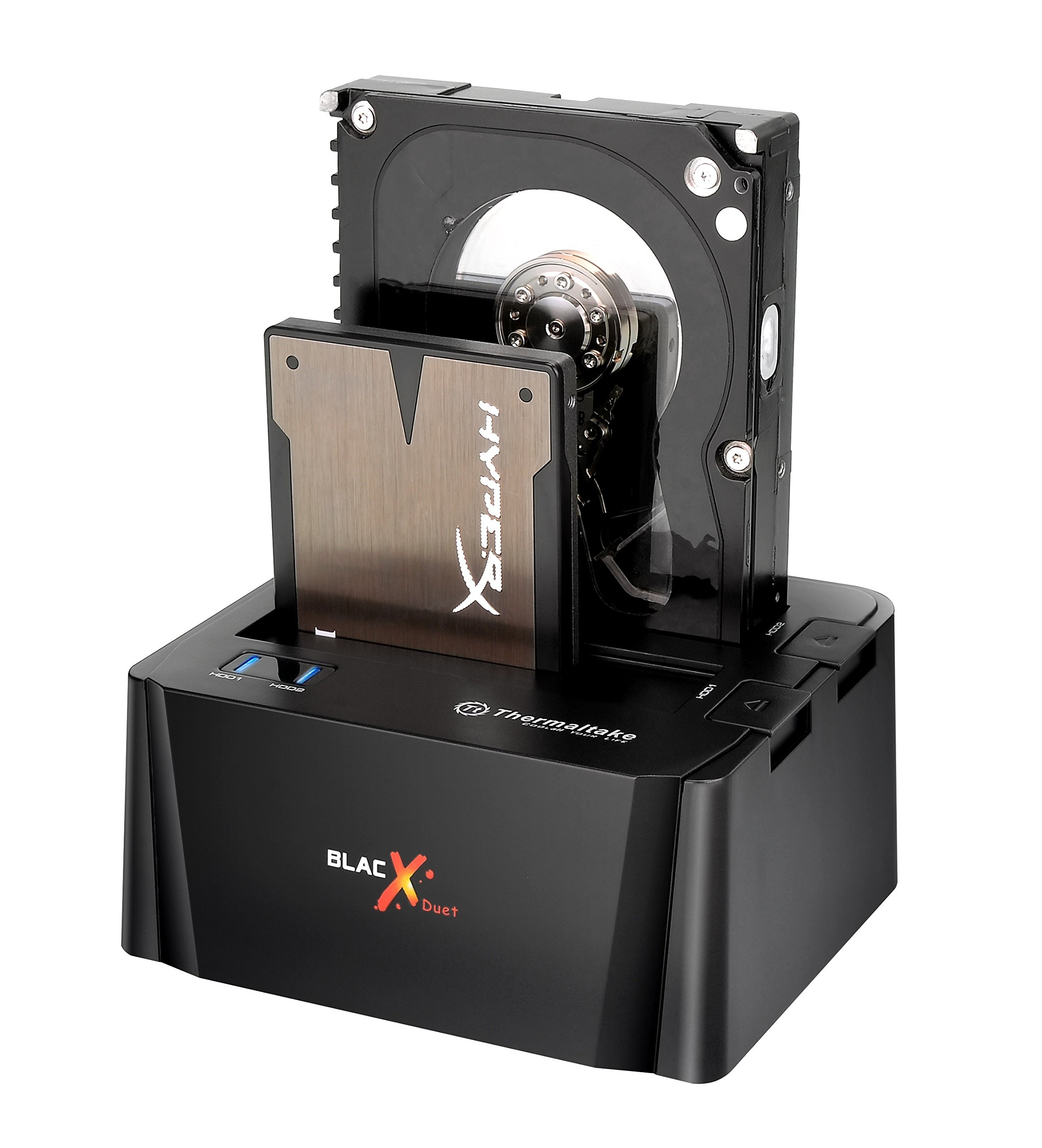 "Thermaltake BlacX Duet 2.5""/3.5"" SATA I/II/III USB 3.0 External Hard Drive Enclosure Docking Station ST0014U-D"