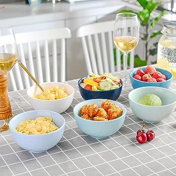CUTICATE 7 Pezzi//Set in Acciaio Inox Ciotola di Cereali Zuppa Microonde Sicuro per Bevande Alimentari