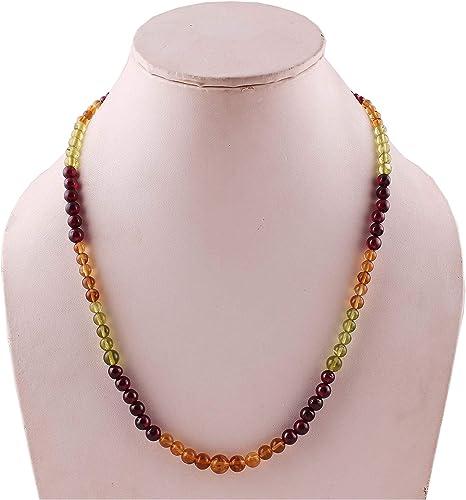 Neerupam Collection Collar con Perlas de Piedras Preciosas de ...