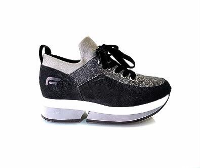 Fornarina PI18SL1080V000 Sneakers Femme Noir 40  Amazon.fr ... 19403919e59
