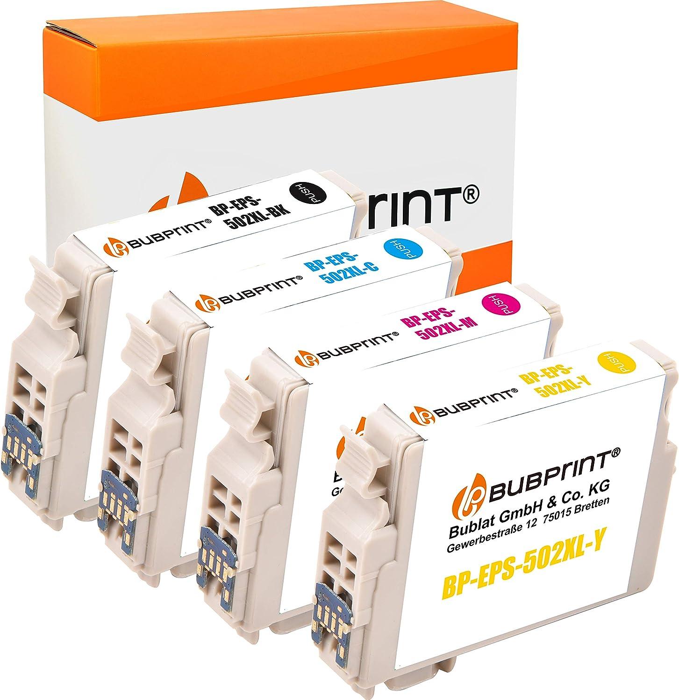 Bubprint 4 Druckerpatronen Kompatibel Für Epson 502 Xl 502xl Für Expression Home Xp 5100 Xp 5105 Xp 5115 Workforce Wf 2860dwf Wf 2865dw Multipack Bürobedarf Schreibwaren