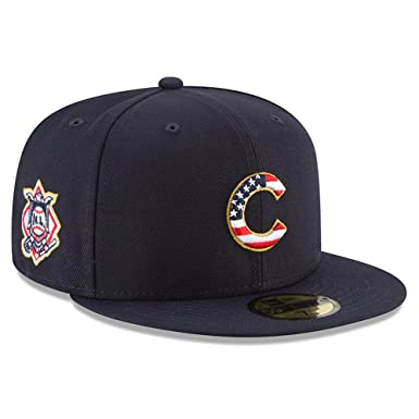 bab494aa3b7 New Era Chicago Cubs Navy 4TH of July Cap 59fifty 5950 Fitted MLB Limited  Edition