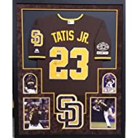 $449 » Fernando Tatis Jr San Diego Padres Autograph Signed Custom Framed Authentic Jersey Brown…