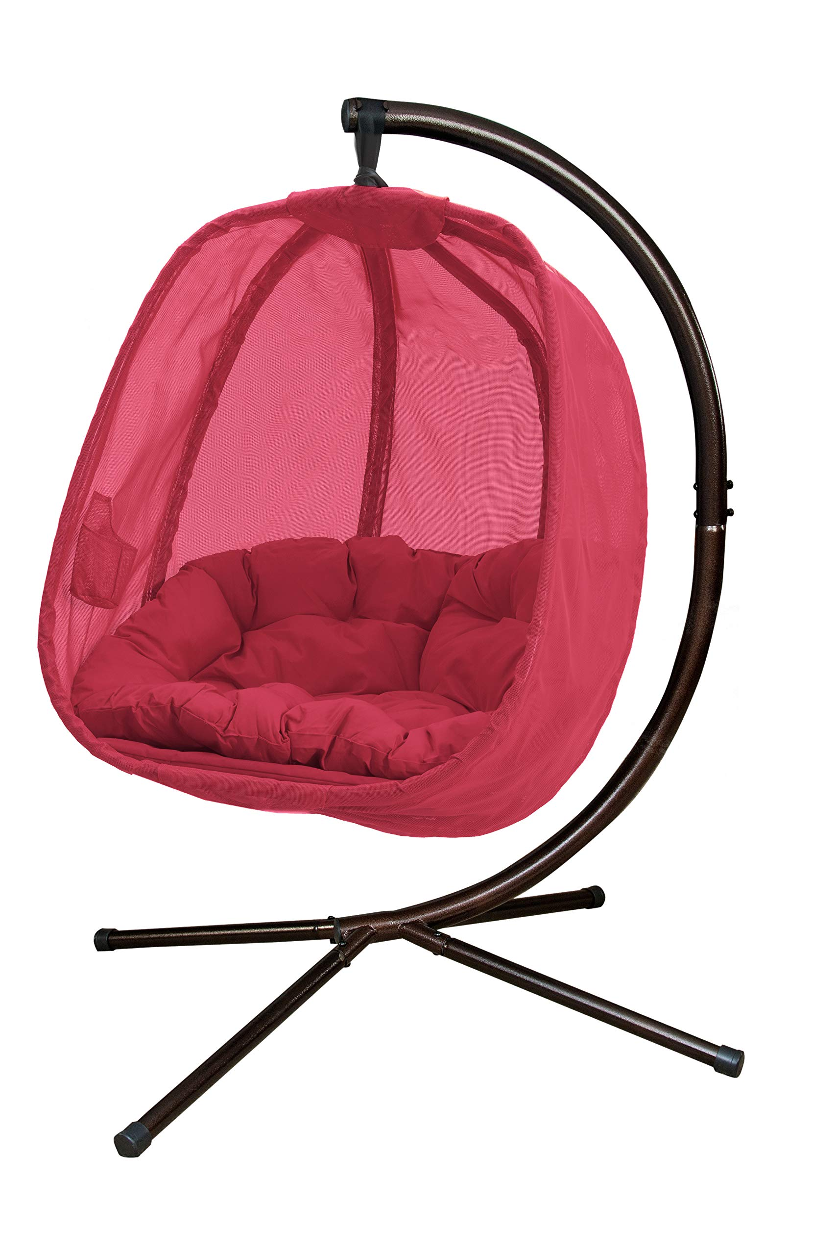 STS SUPPLIES LTD Egg Hammock Chair Swing Accent Outdoor Indoor Lounge Stand Hanging Oval Patio Deck Living Room Lounger Furniture & E Book by Easy 2 Find.