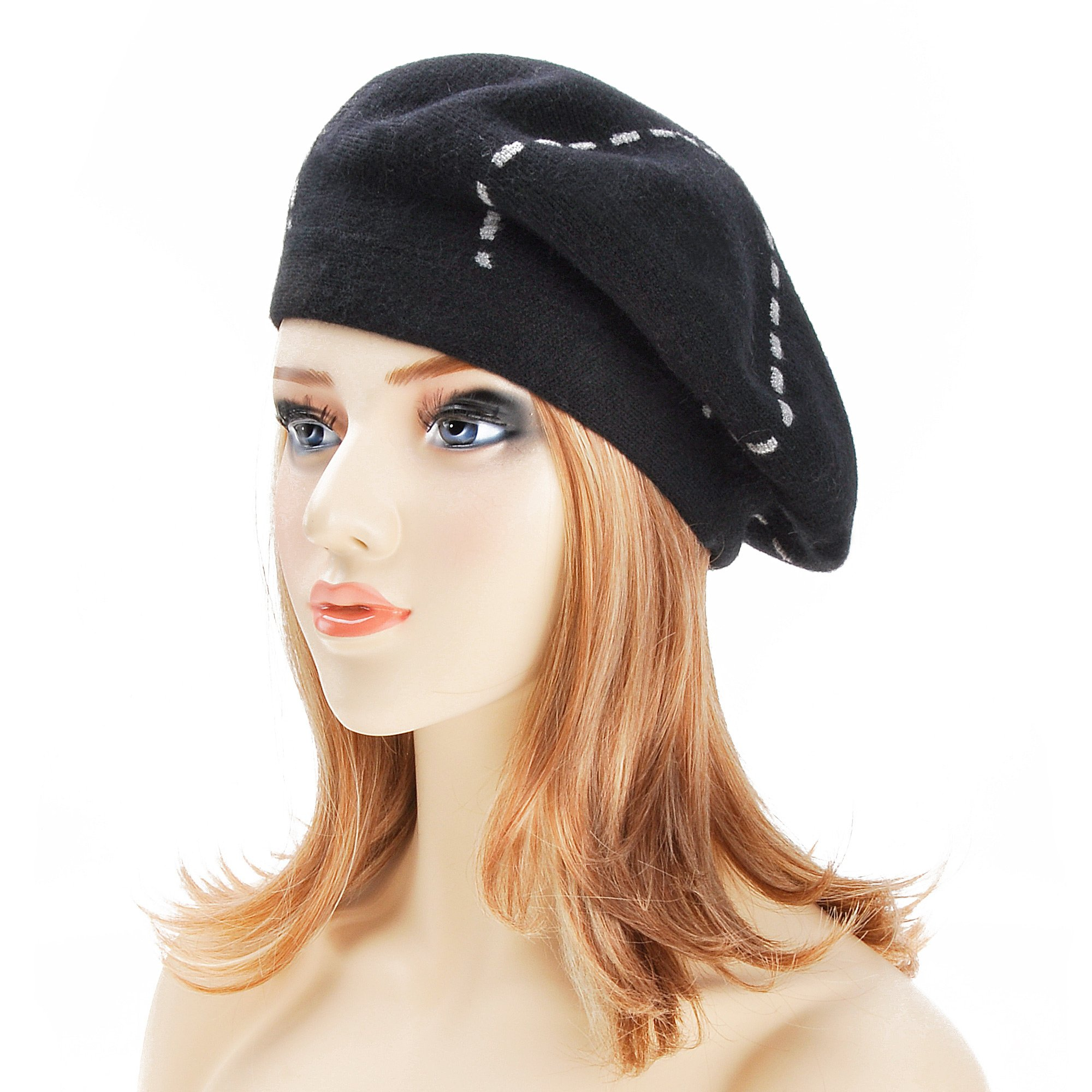10872ef1 ZLYC Womens Reversible Beret Hat Double Layers French Beret product image