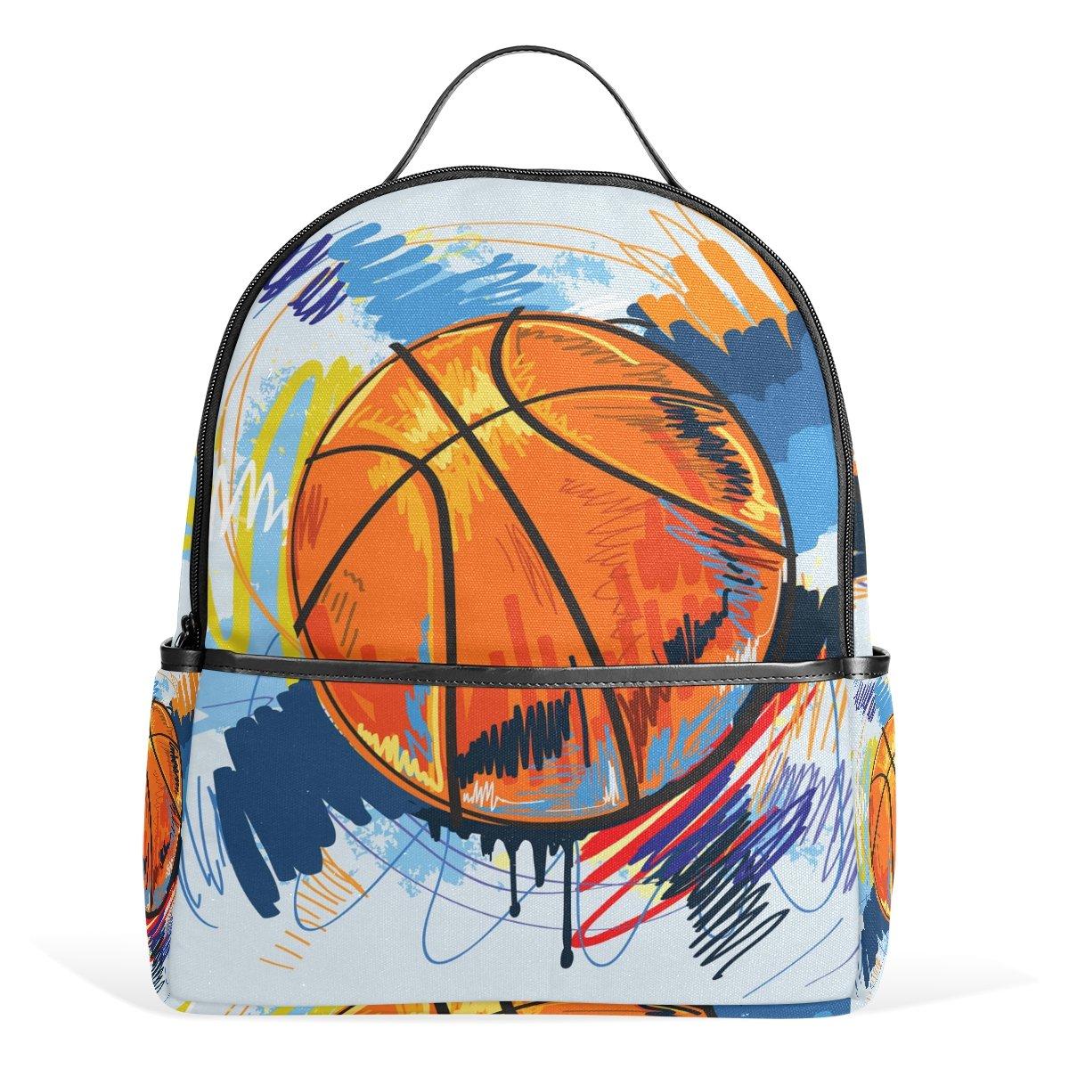 COOSUN Mochila Ligera Pintura de Baloncesto Lienzo Kids School La ...