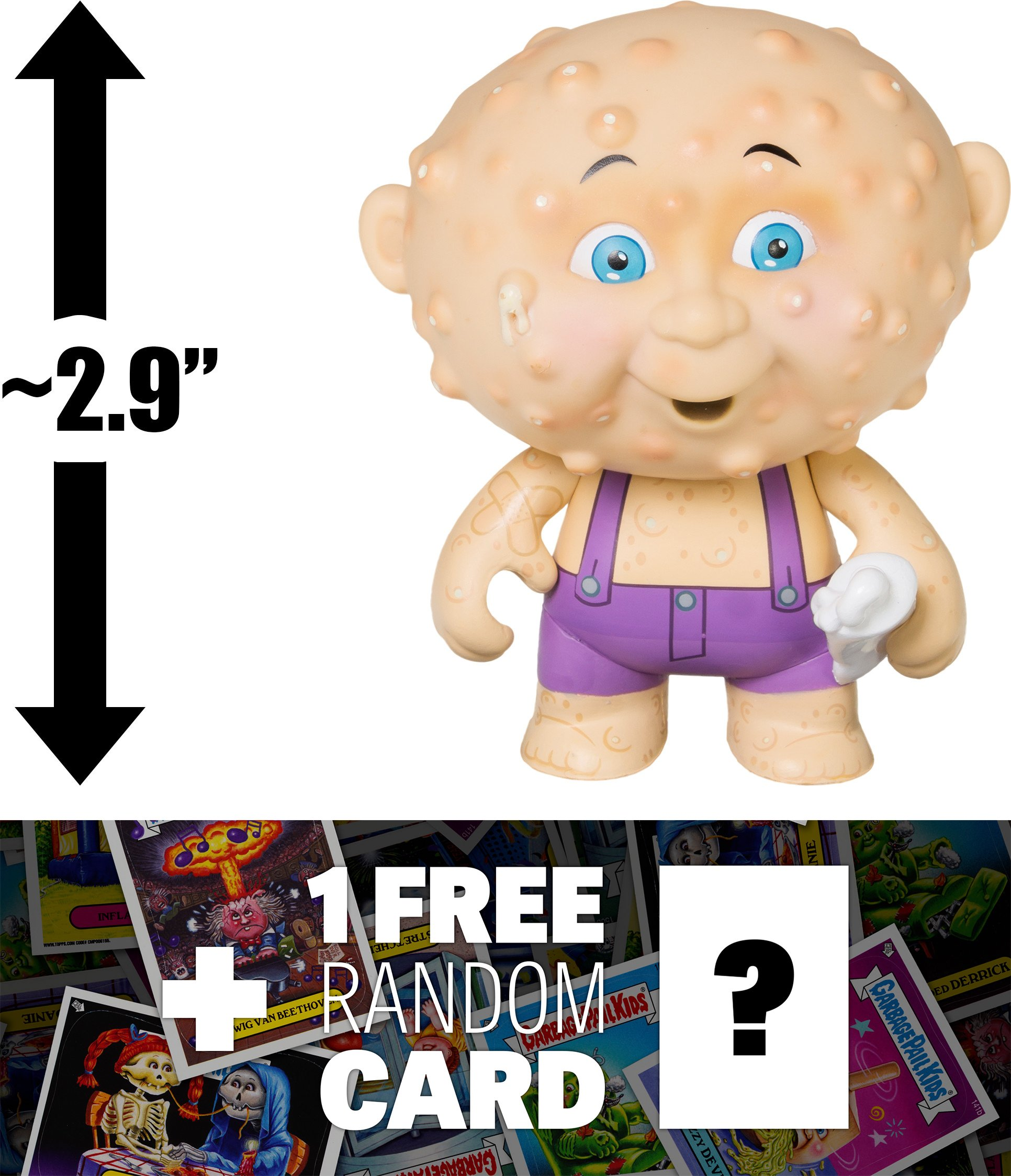 Corroded Carl: ~2.9'' Garbage Pail Kids x Funko Mystery Minis Mini-Figure Series #2 + 1 FREE GPK Trading Card/Sticker Bundle (108454)