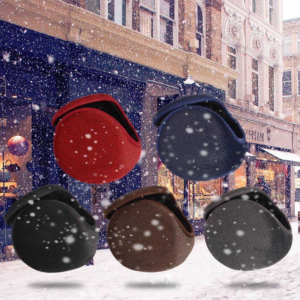 Jannyshop Ohrensch/ützer Ohrenw/ärmer Warm Bequem Earband im Winter f/ür Damen und Herren 56-60cm Schwarz//Grau//Dunekbalu//Rot//Kaffee