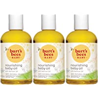 Burt's Bees Baby 100% Natural Baby Nourishing Oil, 4 Ounces (Pack of 3) (Packaging May Vary)