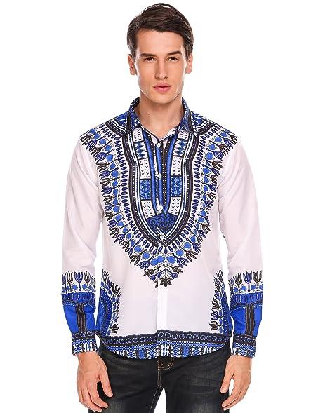 Large blue dashiki shirt. dF5rStxmD