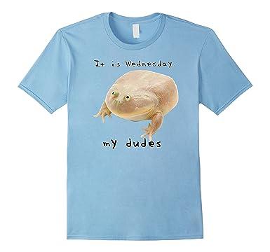 81RW6oRgicL._UX385_ amazon com it is wednesday my dudes frog meme shirt clothing