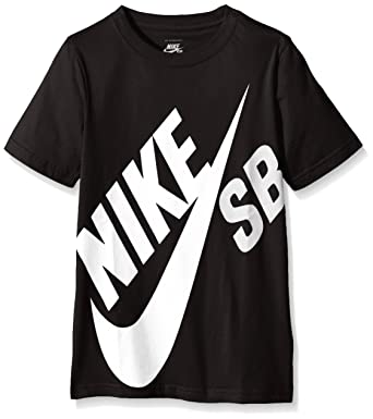 33d03fbc Nike SB Boy's Big Logo T-Shirt, Black, 9-10 Years (Manufacturer Size ...