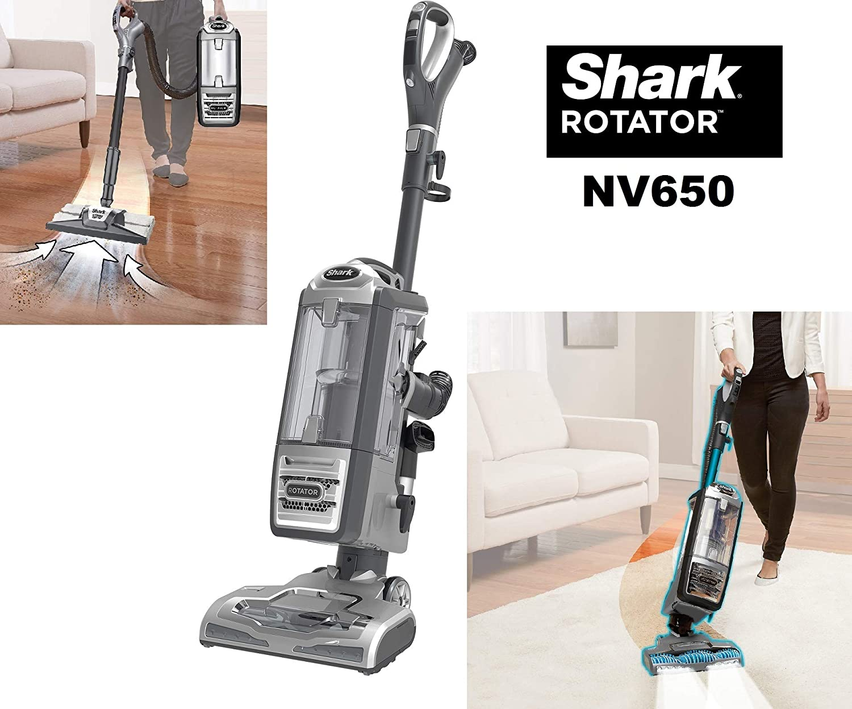 Shark NV650 Rotator Powered Lift-Away Upright Vacuum Cleaner for Hard Floor & Carpet Pet Multi-Tool. Designed to Capture Embedded pet hair-622356537438