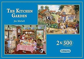 9204e2ea6095 Gibsons The Kitchen Garden Jigsaw Puzzles (2x500 Pieces): Amazon.co ...