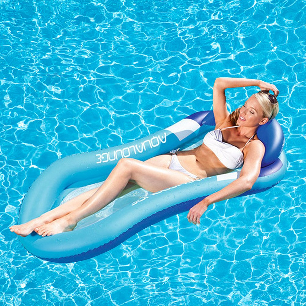 Amazon.com: Pool Floating Lounge Bed Water Hammock Floating Float Reclining Water Inflatable Bed for Summer Swimming: Home Improvement