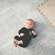 Little Nomad Foam Tile Baby Play Mat Puzzle Flooring Infant Roam Free Authentic 6 x 8 Soft Interlocking Floor Tiles for Toddlers and Kids Resembles an Area Rug | As Seen On Shark Tank | Feather Gray