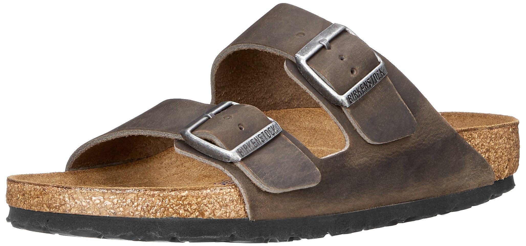 Birkenstock Arizona Birkibuc Sandal,Iron Oiled Leather,39 M EU/8-8.5 B(M) US Women