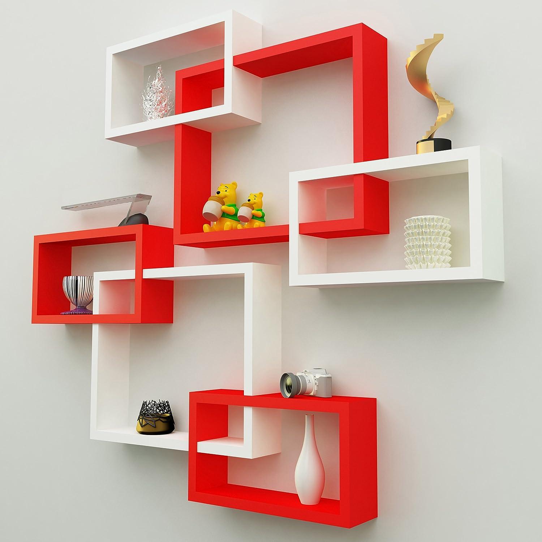Wooden Shelf Racks for decor walls of bedroom