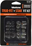Westone TRUE-FIT and STAR Combo Premium Audiophile Eartips for Westone Earphones, Assorted Sizes
