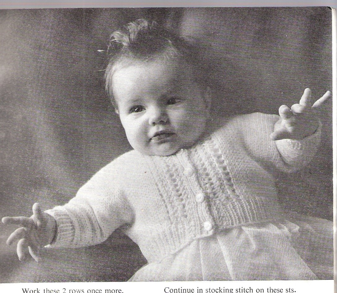 Vintage Patons Knitting Pattern No Sc44 The Quickerknit Baby Book