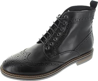 179f0da133d4 Base London Hurst Waxy Mens Brogue Boots  Amazon.co.uk  Shoes   Bags