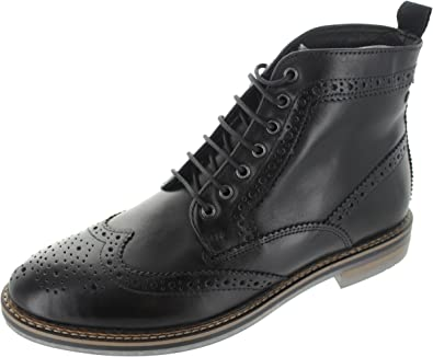37daa6f298385 Base London Hurst Waxy Mens Brogue Boots: Amazon.co.uk: Shoes & Bags