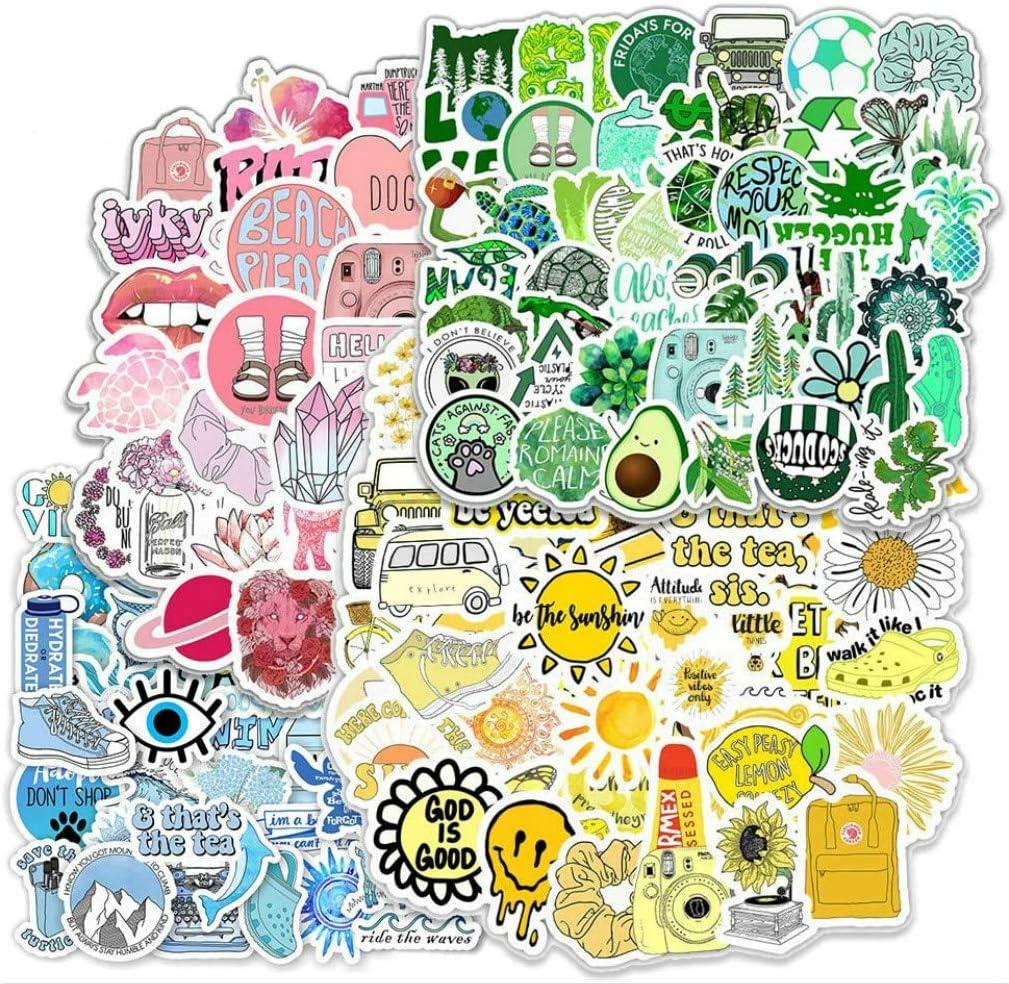 Pegatinas 2PCS, Pegatinas VSCO Sticker PVC Vinals para Coche, Bicicleta, Moto, Equipaje, Portátil, Dormitorio, Funda de Viaje, Impermeable