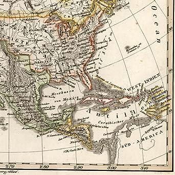 Map Of America Oregon.Amazon Com North America Territorial Oregon Arkansas Hudson Bay Old