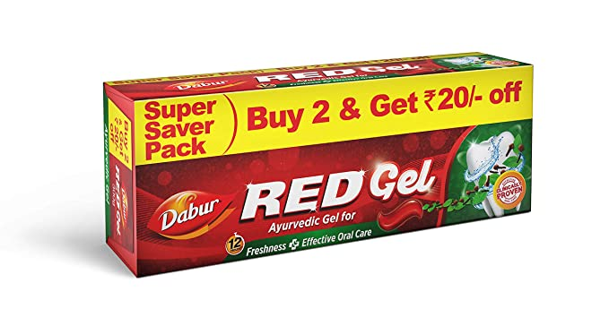 Dabur Red Gel - 150 g (Pack of 2)
