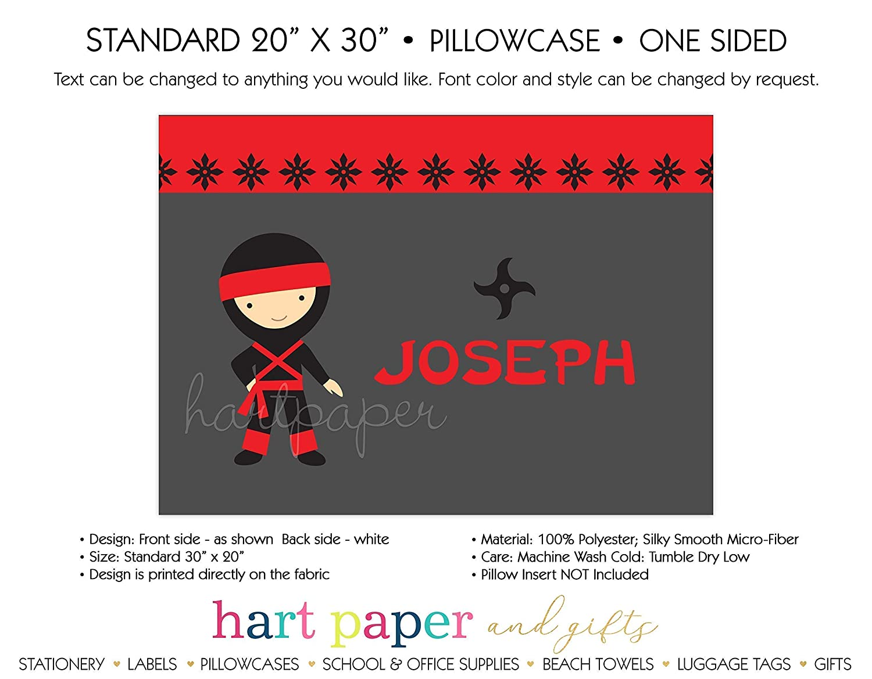 Ninja Karate Pillowcase /• Personalized Custom Pillow Case Cover Standard 20x30 /• Christmas Holiday Birthday Gift Kids Girl Boy