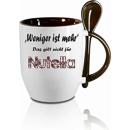Taza M Cuchara Menos Es Más Que No Se Aplica Nutella
