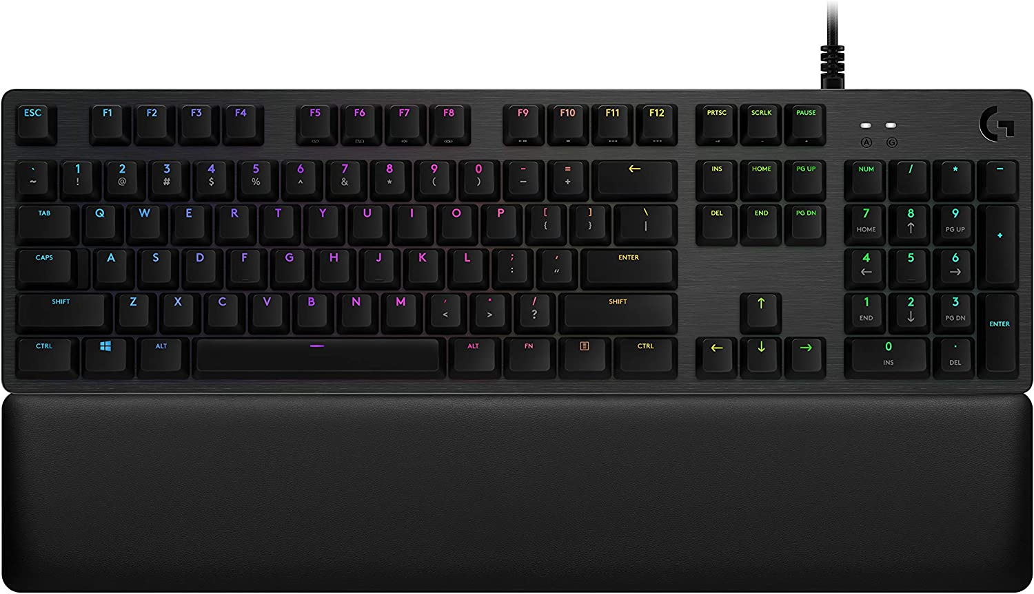 Logitech G513 Carbon LIGHTSYNC RGB Mechanical Gaming Keyboard with GX Red Switches - Linear