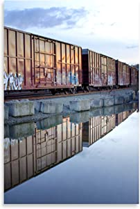Gango Home Décor Rail Art Reflections, Fine Art Photograph by: Douglas Taylor; One 24x36in Fine Art Paper Giclee Print