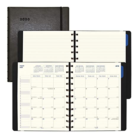 Filofax 2020 Filofax Monthly Planner, 17 Months (Aug. 2019 - Dec 2020), Black, 10.875 x 8.5 inches (C1811001-20)