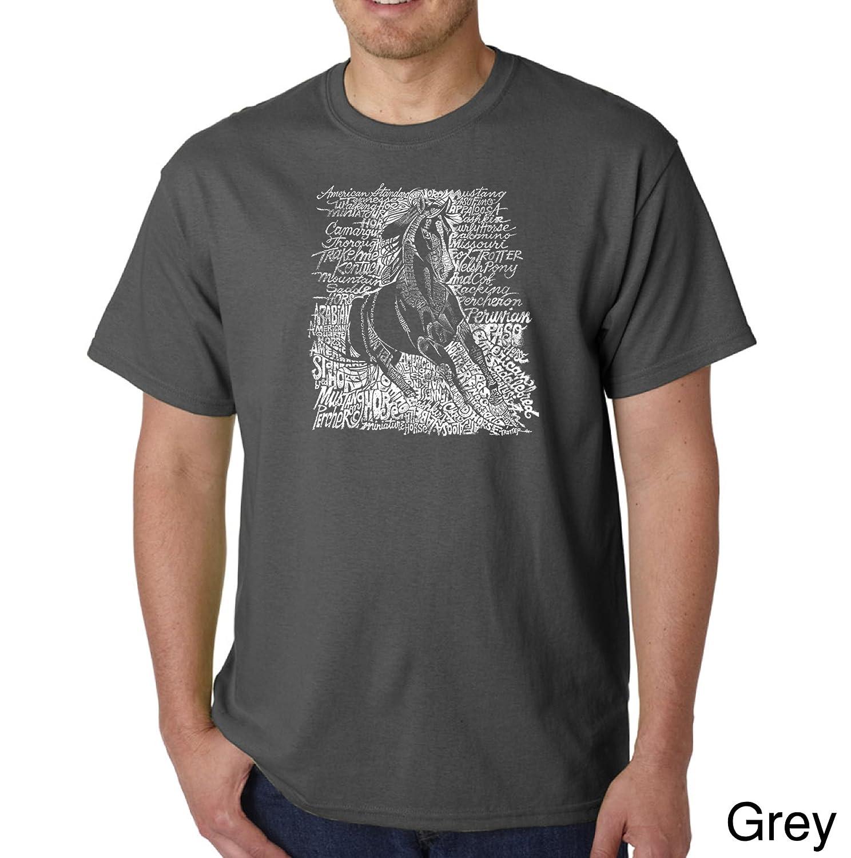 Amazon.com: LA POP ART Mens Word Art T-Shirt- Popular Horse ...