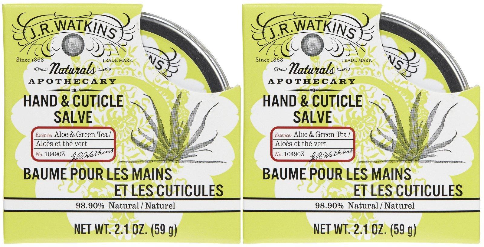 J. R. Watkins Hand & Cuticle Salve - Aloe & Green Tea - 2.1 oz - 2 pk