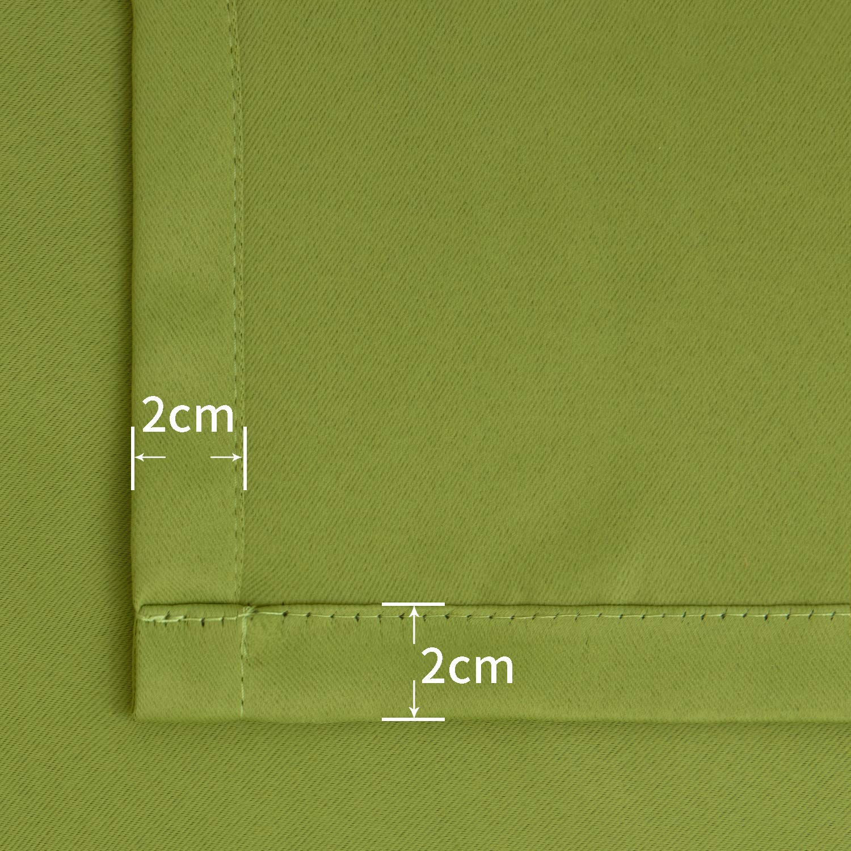 BGment Gardine Verdunklungsgardine 2 Stück Verdunkelungsvorhänge mit Ösen Beige Beige Beige Vorhänge Blickdicht Monochrome Kälte- und Wärmeisolierung,137 x 117 cm B07H1RM8NR Raffhalter df0725