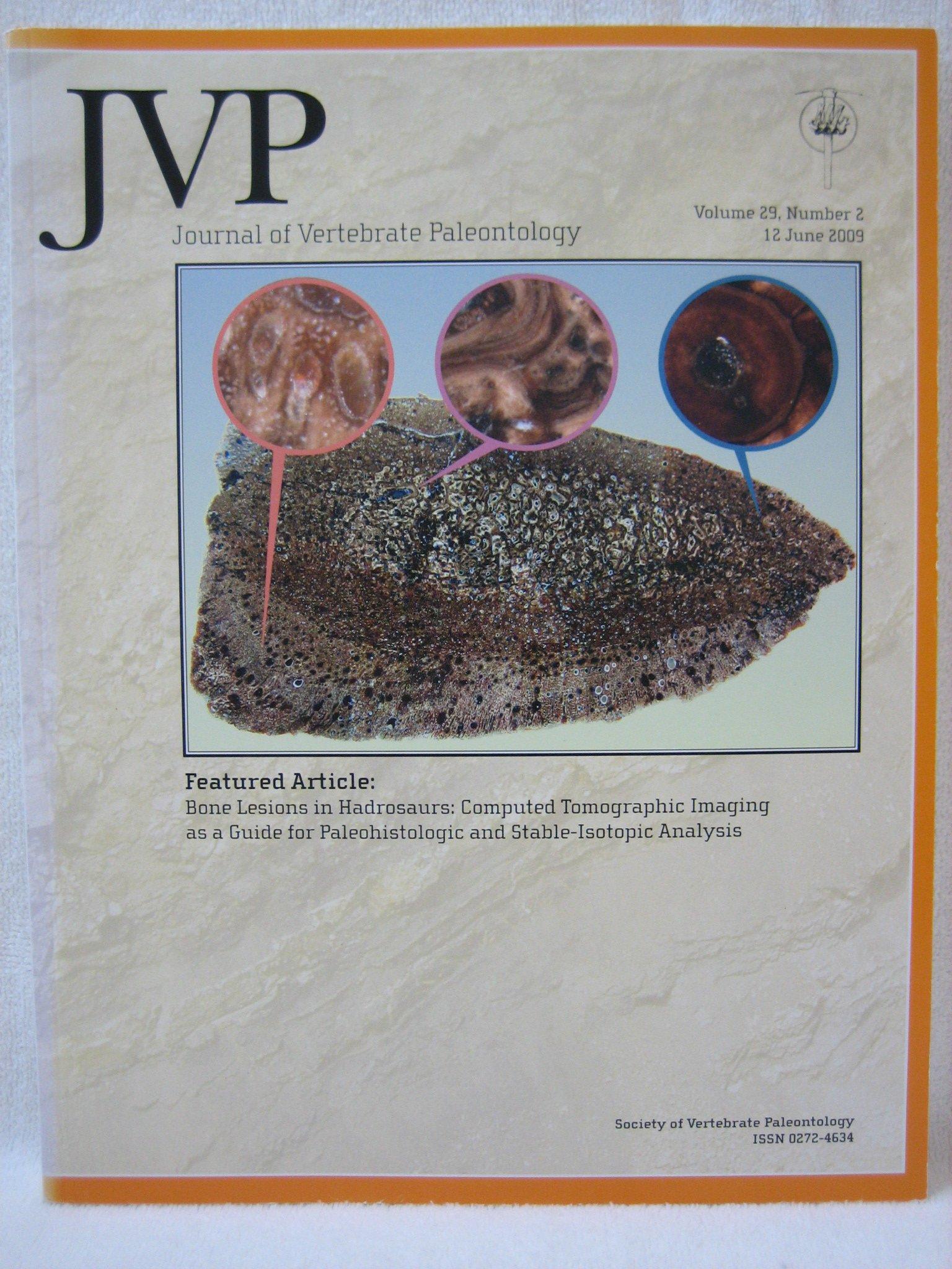 JVP - Journal of Vertebrate Paleontology Volume 29 Number 2 (12 June 2009)