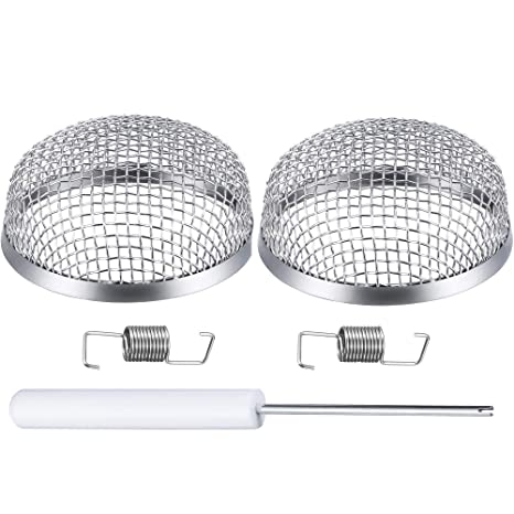 Flying Insect Screen net Cover Heater Exhaust Vents Screen 2.8 inch Stainless Steel Mesh for RV Camper 2 Pack RKURCK RV Furnace Vent Cover Installation Tool Included