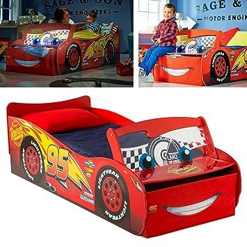 Kinderbett junge cars  Disney Cars Kinderbett im Autodesign mit beleuchteter ...