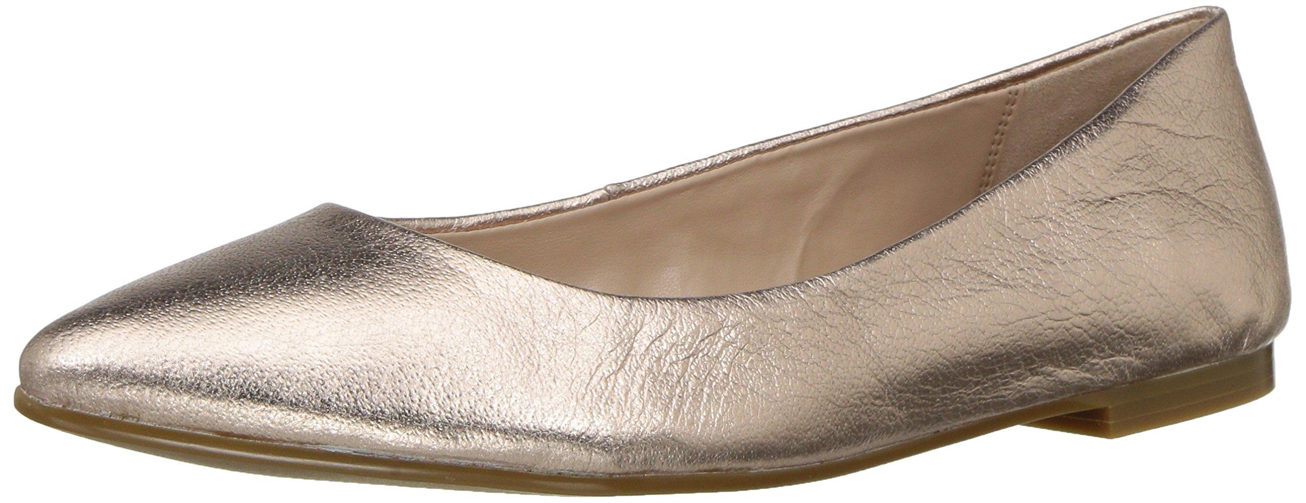 BCBG Generation Women's Millie Ballet Flat, Rosegold Leather, 6.5 M US