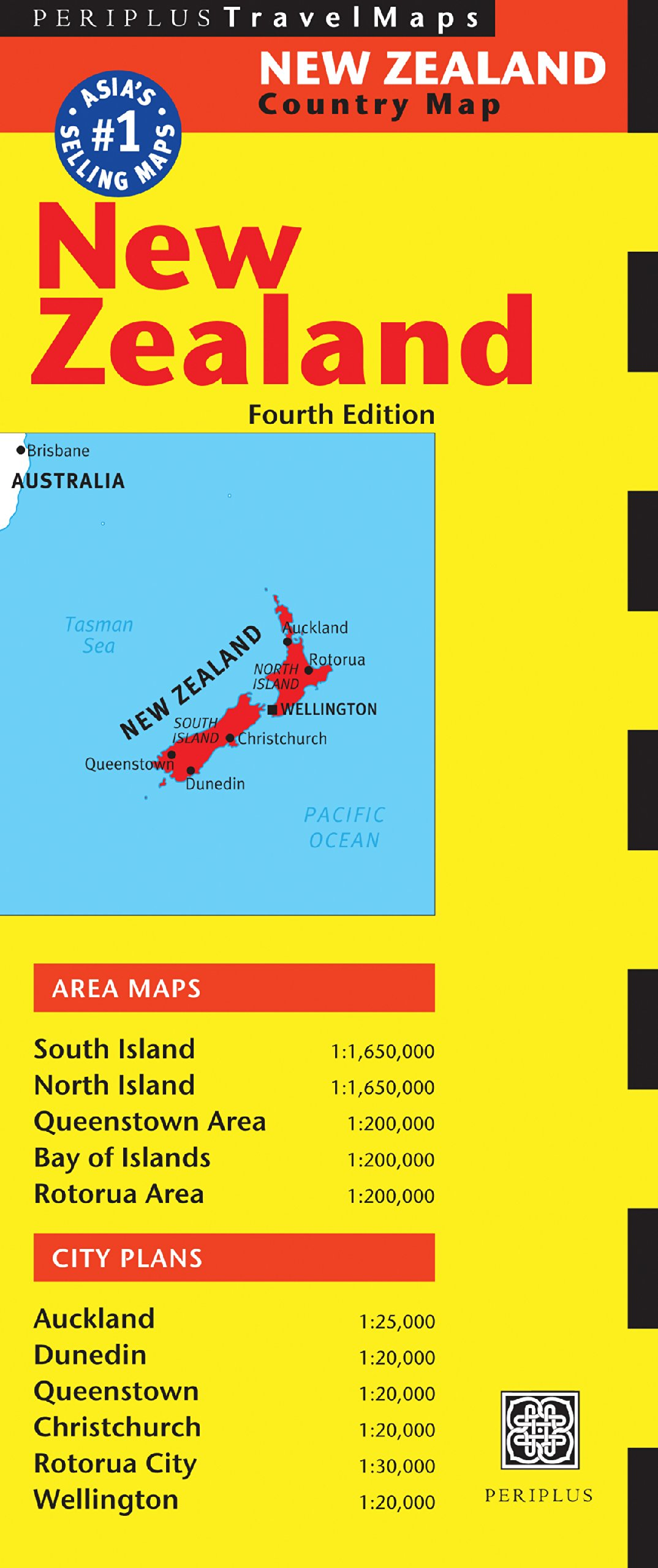 Travel Map New Zealand.New Zealand Travel Map Fourth Edition Australia Regional Maps