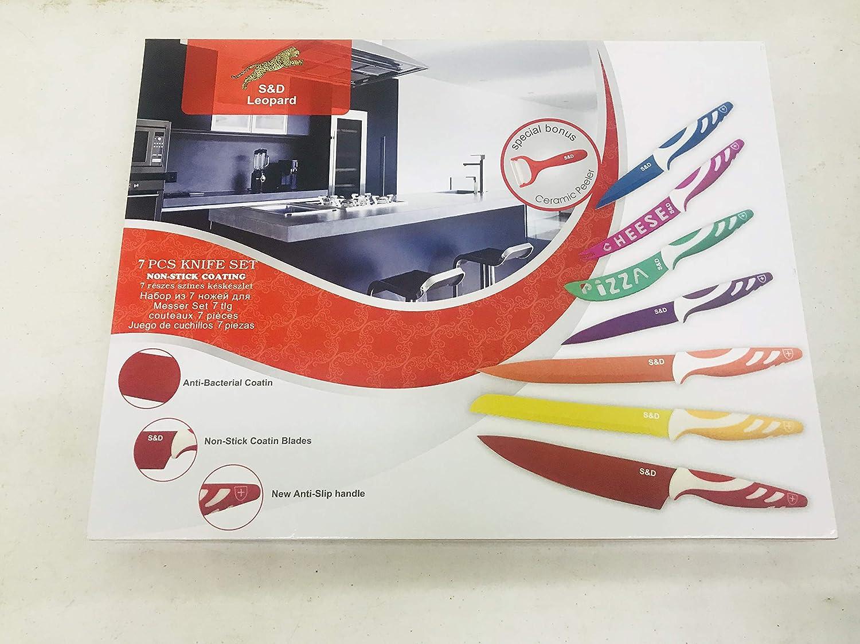 S&D LEOPARD 7+1 - Juego de 12 cuchillos de cocina: Amazon.es ...