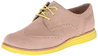 c7d262fae10 Amazon.com | Cole Haan Lunargrand Wingtip Women's Nude Suede Oxfords ...