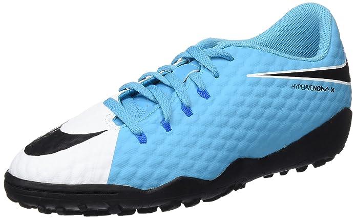 Nike Jr Hypervenomx Phelon III TF, Chaussures de Football Mixte enfant,  Rouge/Noir: Amazon.fr: Sports et Loisirs