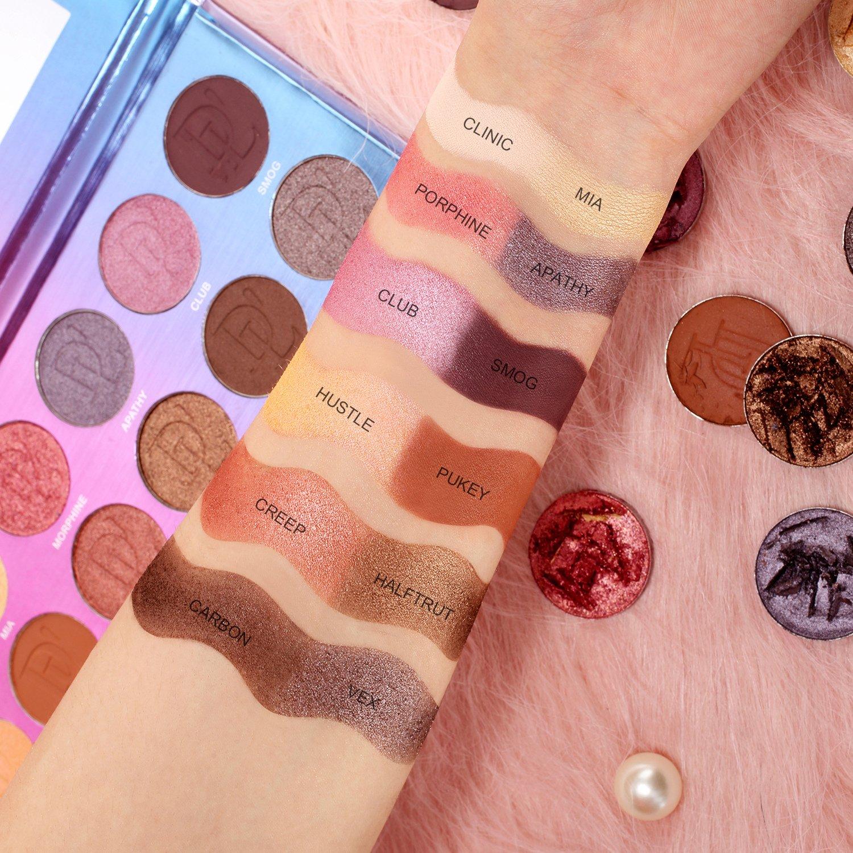 DE\'LANCI Eyeshadow Palette, 12 Natural Colors Nude Highly Pigmented Creamy Professional Nude Powder Make Up Kit Waterproof Eye Shadow Pallet High-end Formula (Smokey)