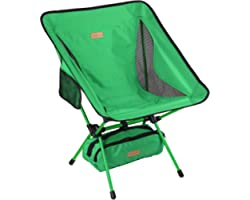 YIZI GO Portable Camping Chair - Compact Ultralight Folding Backpacking Chairs, Small Collapsible Foldable Packable Lightweig