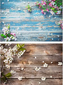 FiVan Double-Sided Waterproof Paper Background - Great for Food Jewelry Luxury Cosmetics Tabletop Photography - Wood Floral Texture 33